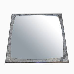 Vintage Mirror with Chromed Steel Frame, 1960s