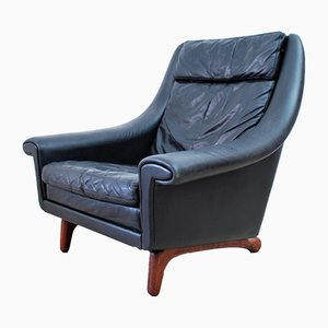 Mid-Century Danish Leather Matador Lounge Chair by Aage Christiansen for Eran Mobler, 1970s