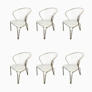 Lounge Chairs in the Style of Harry Bertoia, 1960s, Set of 6