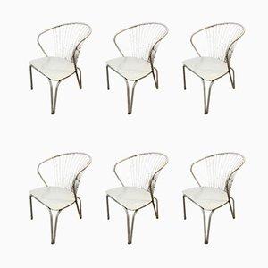 Sessel im Stil von Harry Bertoia, 1960er, 6er Set