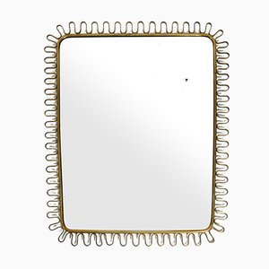Mid-Century Brass Wall Mirror in Loop Design by Josef Frank, 1950s
