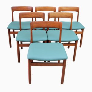 Mid-Century Dining Chairs with Leather Seats by John Herbert for A. Younger Ltd., 1960s, Set of 6