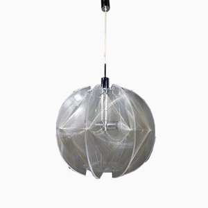 Large German Round Hanging Lamp by Paul Secon for Sompex, 1960s