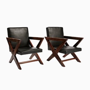 Cross Easy Armchairs by Pierre Jeanneret for M.M.A Chandigarh Hostel