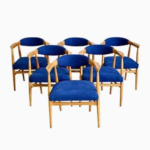 Skandinavische Mid-Century Esszimmerstühle, 1960er, 6er Set