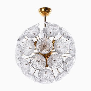 Goldener Sputnik Kronleuchter mit Satellitenbrille, 1960er