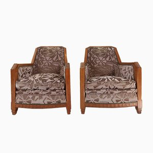 Vintage Art Deco Club Chairs by Gaston & Fernand Saddier, Set of 2