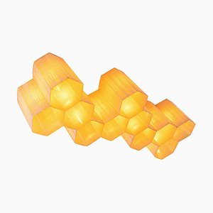 Molecular 11-Light Fiberglass Honeycomb Flush Mount & Wall Sculpture, 1950s