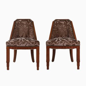 Vintage Dining Chairs by Gaston & Fernand Saddier, 1925, Set of 2
