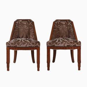 Vintage Esszimmerstühle von Gaston & Fernand Saddier, 1925, 2er Set
