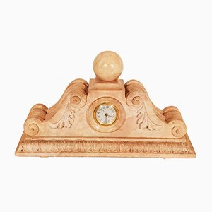 Art Deco Molded and Carved Stone Clock, 1930s