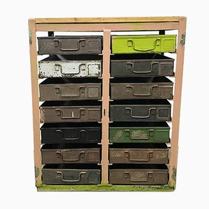 Vintage Industrial Iron Chest of Drawers, 1950s
