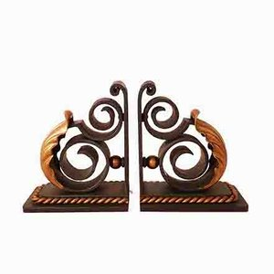 Art Deco Bookends by Louis Katona, 1930s, Set of 2