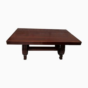 Art Deco Mahogany Dining Table by Gaston Poisson, 1940s