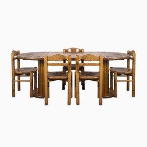 Esstisch & Stühle im Stil von Rainer Daumiller, 1970er, 6er Set