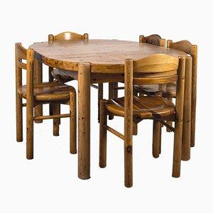 Esstisch & Stühle Set im Stil von Rainer Daumiller, 1970er, 6er Set