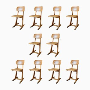 Dining Chairs by Karl Nothhelfer for Casala, 1960s, Set of 10