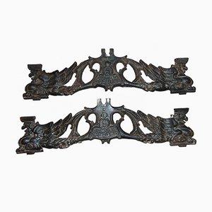 Antike Industrielle Teile oder Stangen aus Vorkrieg, 2er Set