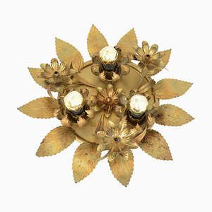 Vintage Hollywood Regency Flower Ceiling Lamp from Honsel