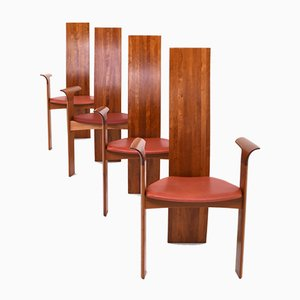 Iris Dining Chairs by Bob & Dries van den Bergh for Tranekær Mobler, 1993, Set of 4