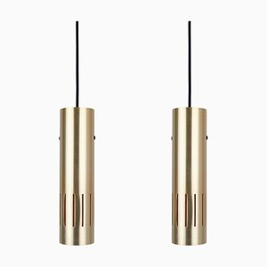 Mid-Century Trombone Ceiling Lamps by Johannes Hammerborg for Fog & Mørup, Set of 2