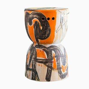 Zylinderförmiger Stuhl aus Keramik von Reinaldo Sanguino