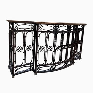 Late-19th Century Wrought Iron Console Table