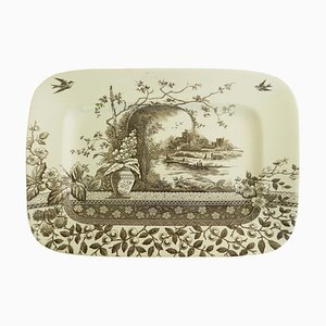 Antique English Chinoiserie Meat Plate, 1910