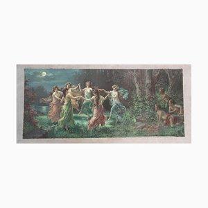 Danza del cromolitografia delle fate di Zabateri, fine XIX secolo