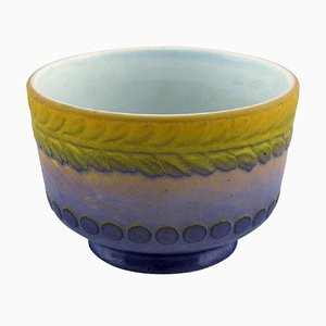 Antique Bowl in Glazed Ceramic by Gunnar Wennerberg for Gustavsberg, 1906