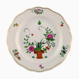 Meissen Plate in Hand-Painted Porcelain with Floral Motifs