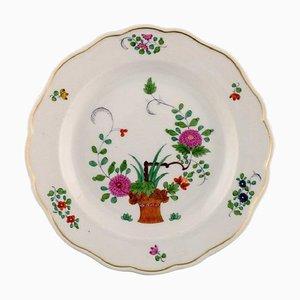 Piatto Meissen in porcellana dipinta a mano con motivi floreali