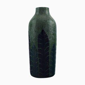 Antique Vase in Glazed Ceramic by Gunnar Wennerberg for Gustavsberg, 1905