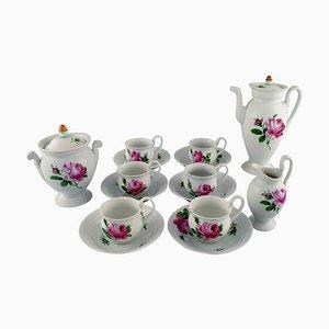 Servizio da caffè Meissen antico in porcellana dipinta a mano, set di 15
