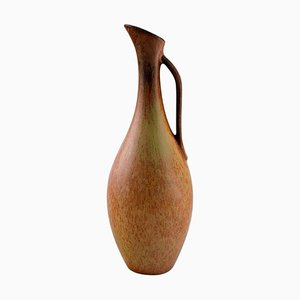 Vase with Handle in Glazed Stoneware by Gunnar Nylund for Rörstrand, 1960s