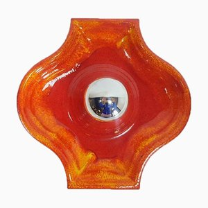 Vintage West German Fat Lava Ceiling or Wall Light from Scheurich