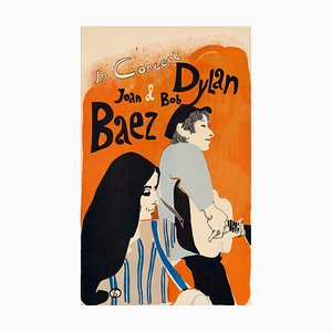 Affiche Bob Dylan and Joan Baez par Eric Von Schmidt, 1965