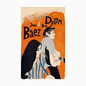 Bob Dylan und Joan Baez Poster von Eric Von Schmidt, 1965