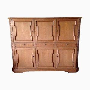 Handmade Oak Cabinet, 1950s