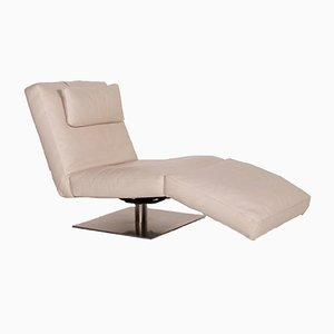 Cream Leather Daybed from Natuzzi