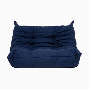 Small Blue Togo Sofa by Michel Ducaroy for Ligne Roset, 2000s