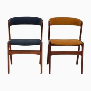 Mid-Century T21 Fire Chairs von Korup Stolefabrik, 1960er, 2er Set