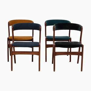 Mid-Century T21 Fire Chairs von Korup Stolefabrik, 1960er, Set of 4