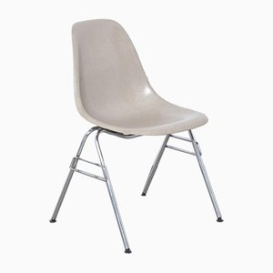 Tan Fiberglass DSS-N Stacking Side Chair by Charles & Ray Eames for Herman Miller, 1950s