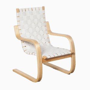 White 406 Armchair by Alvar Aalto for Artek, 1950s