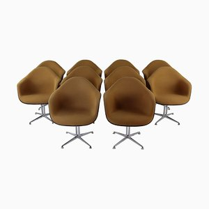 Upholstered La Fonda Armchair by Charles & Ray Eames, 1970s, Set of 2