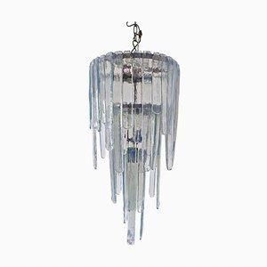 Opalisierender Murano Glas Kaskaden Kronleuchter von Carlo Nason für Mazzega, 1960er