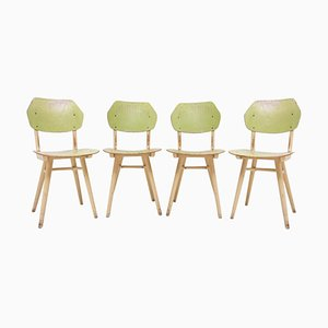 Mid-Century Dining Chairs from Ton, 1960s, Set of 4