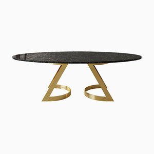 Obsidian Gemstone Noir Désir Dining Table Sculpted by Bijelić and Brajak for Element & Co.