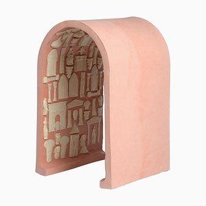 Sgabello in ceramica scolpita di Adèle Vivet
